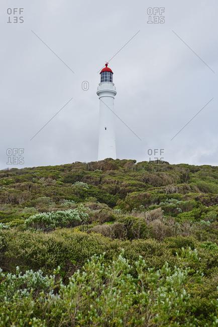 Lighthouse (Split Point Lighthouse), Spring, Cloudy, Aireys, Great Ocean Road, Victoria, Australia, Oceania
