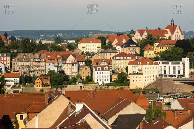 Elbe Cycle tour, Saxony, Meissen, Old Town, distant view