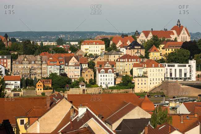 Elbe Cycle tour, Saxony, Meissen, Old Town, distant view