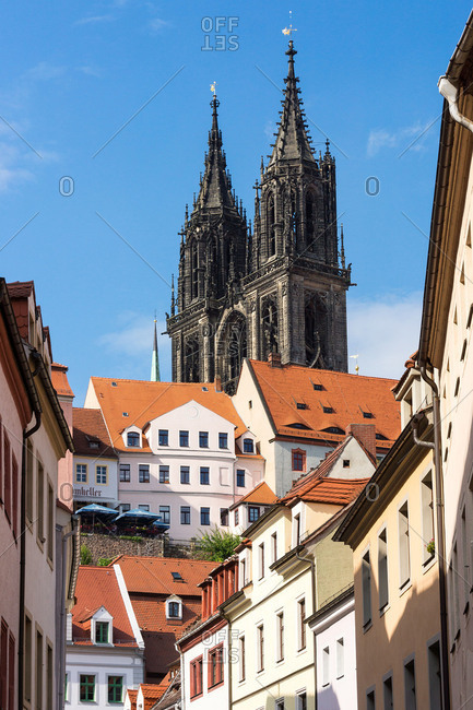 Elbe Cycle tour, Saxony, Meissen, Old Town, Meissen Cathedral, castle Albrechtsburg