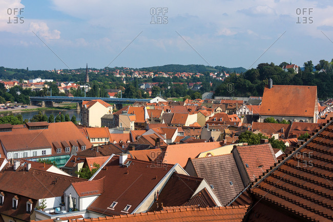 Elbe Cycle tour, Saxony, Meissen, view from the cathedral square