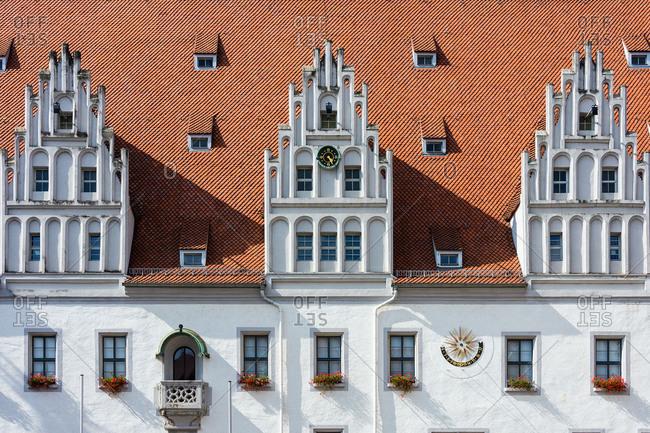 Elbe Cycle tour, Saxony, Meissen, Old Town, historic market square