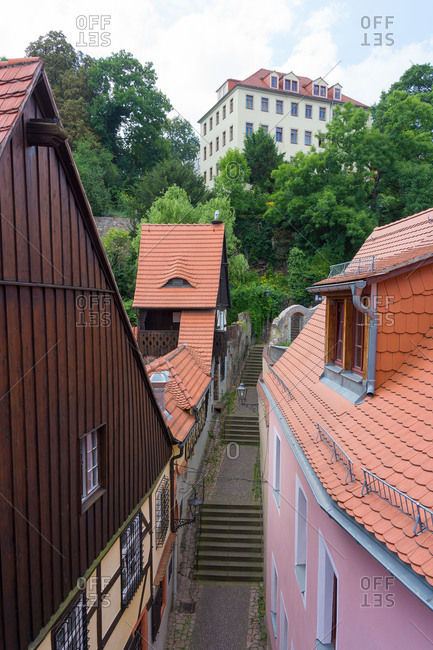 Elbe Cycle tour, Saxony, Meissen, Old Town, Roofs