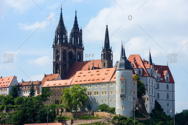Elbe Cycle tour, Saxony, Meissen, Old Town, Meissen Cathedral, Albrechtsburg