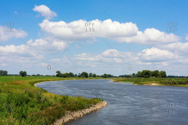 Elbe Cycle tour, Saxony-Anhalt, Elbe, Copy Space