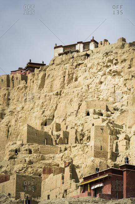 Tsaparang Monastery in Tibet,