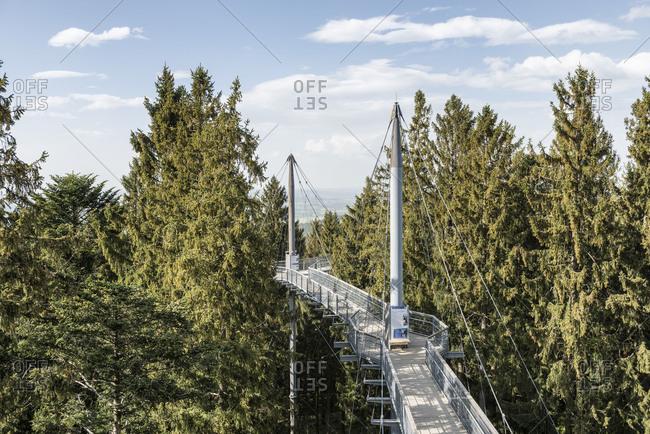 Scheidegg, Bavaria, Germany, The Baumwipfelpfad Skywalk with adventure trail in the Bavarian Westallg�u