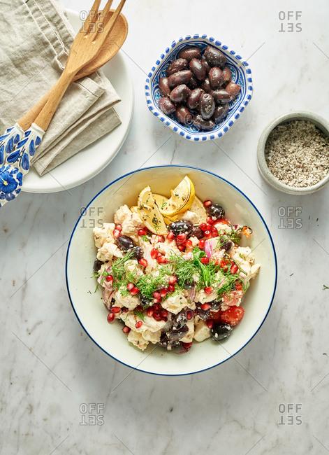 Olive and feta salad - Offset