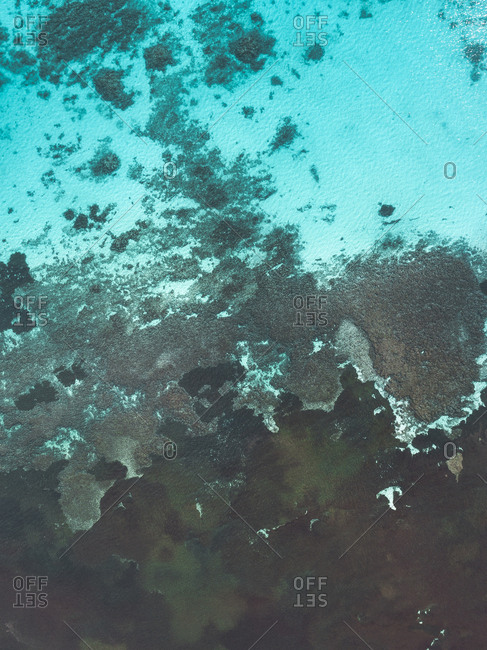 Abstract aerial view of an ocean