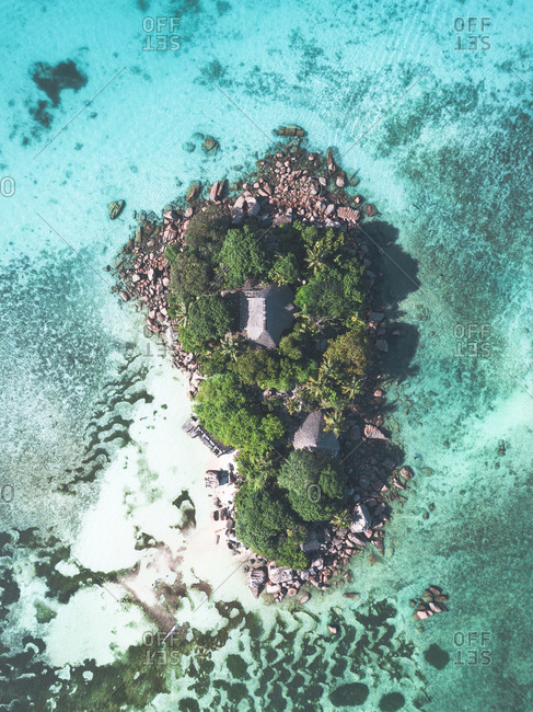 Aerial view of archipelago of Seychelles, Africa