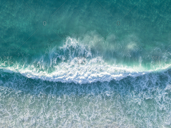 Abstract aerial view of turquoise waves