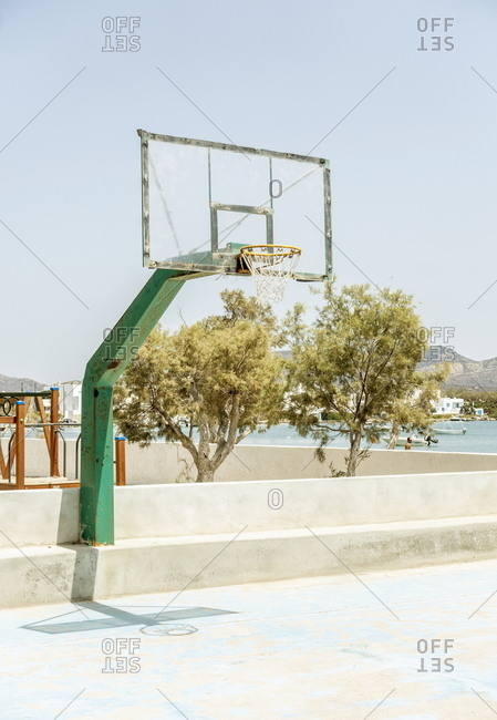 Basketball court, Pollonia, Milos, Cyclades, Greece