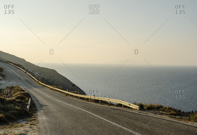 Road along the sea, Folegrandos, Cyclades, Greece