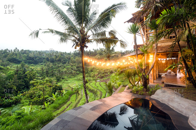 Luxury resort with pool in Bali, Indonesia