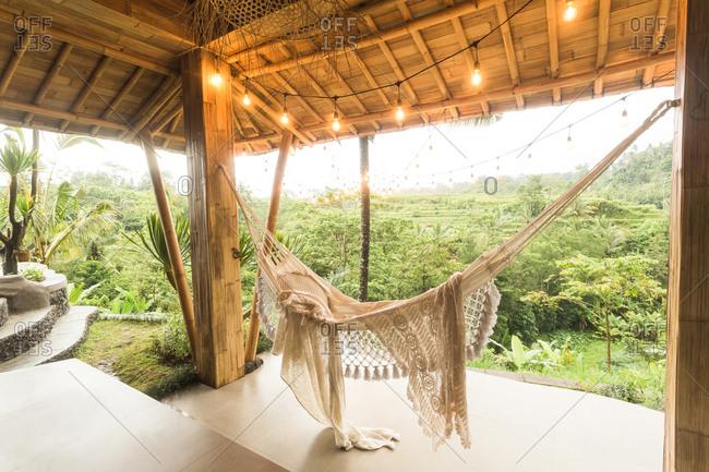 Hammock at a luxury resort in Bali, Indonesia