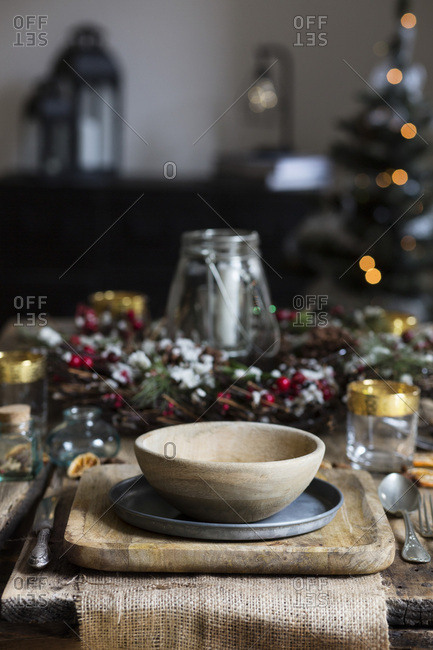 Christmas settings table. Nordic style
