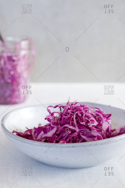 Quick Pickled Purple Cabbage