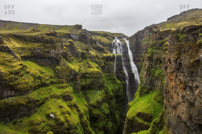Glymur Waterfall is the second highest waterfall in Iceland and a popular hike for travelers and tourists. Located just over an hour from Reykjavik, the falls are nearly 200 meters (650 feet) high and attract a range of bird and animal life.