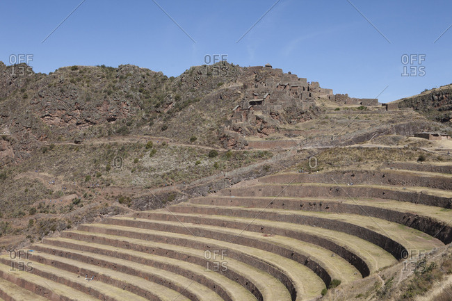 Terraced Mountain Farms of Pisca Ruins, Peru