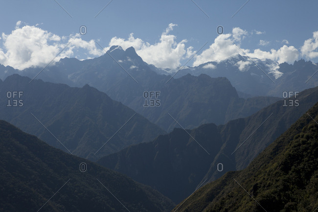 Clouds Blow Past the Andes Mountains, Peru