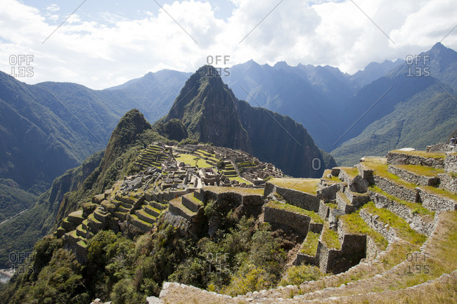 Rugged Andes Mountains Surround Machu Piccu, Peru