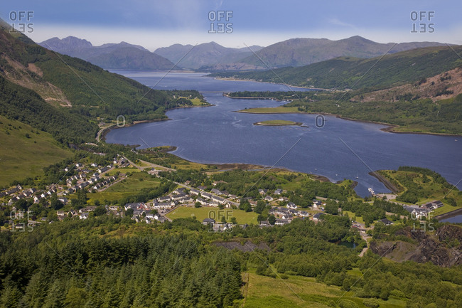 Summer view Ballachulish West Highland Scotland UK