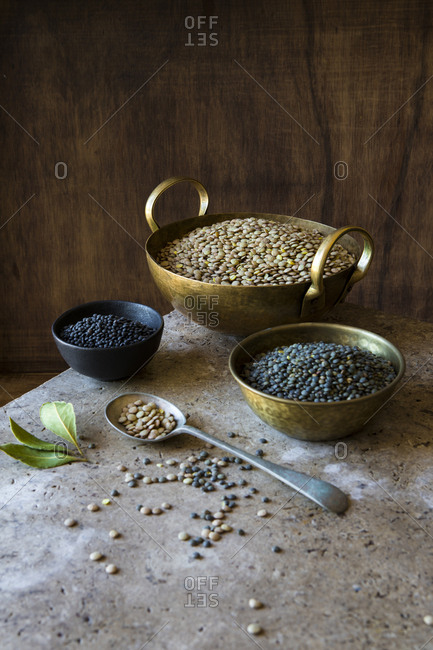 Bowls of a variety of legumes
