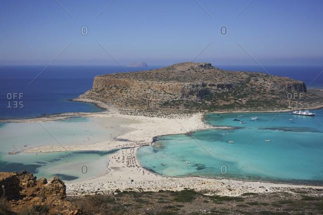 Scenic view of Balos Beach, Crete, Greece