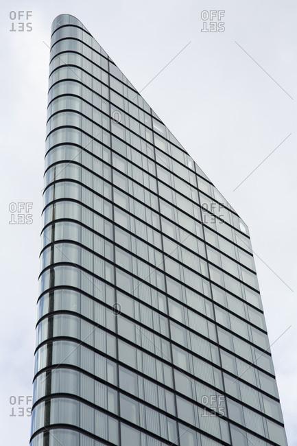 London, England - November 7, 2018: Modern corner building