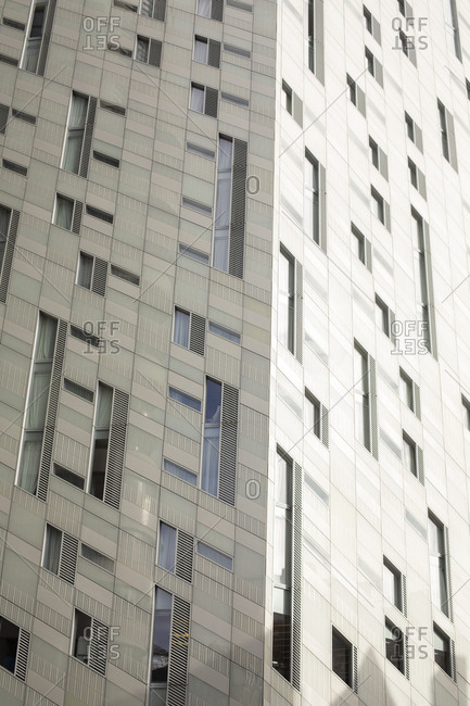 Abstract of modern architecture on City Road, London