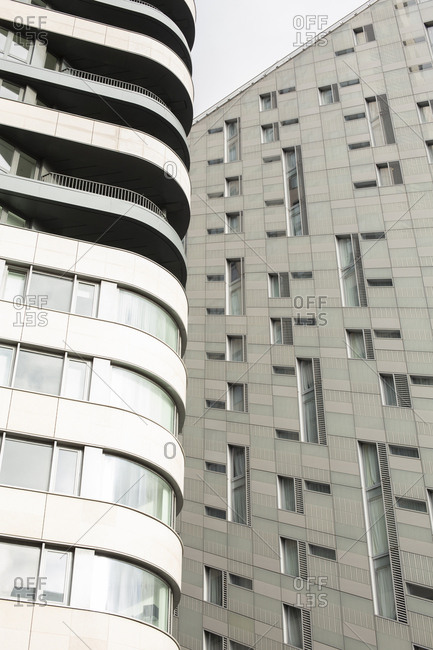 London, England - November 7, 2018: Abstract of modern architecture on City Road, London