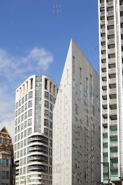 Buildings on City Road, London