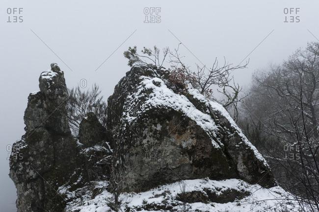 Snow storm at Geres National Park at Geres National Park
