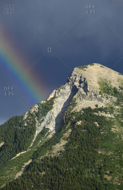 Rainbow by mountain in Marble, Colorado