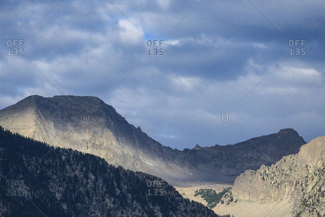 Clouds above mountain in Marble, Colorado