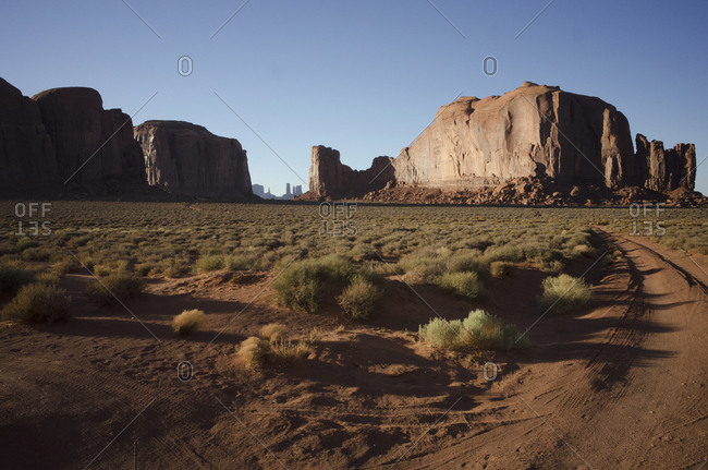 Rock formation in Monument Valley, Arizona
