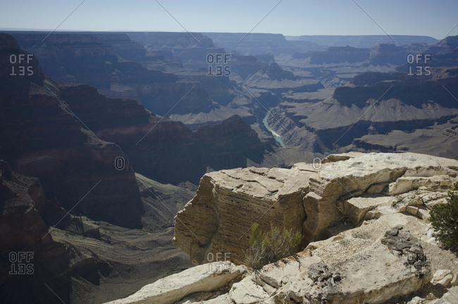 Cliffs of the Grand Canyon in Arizona