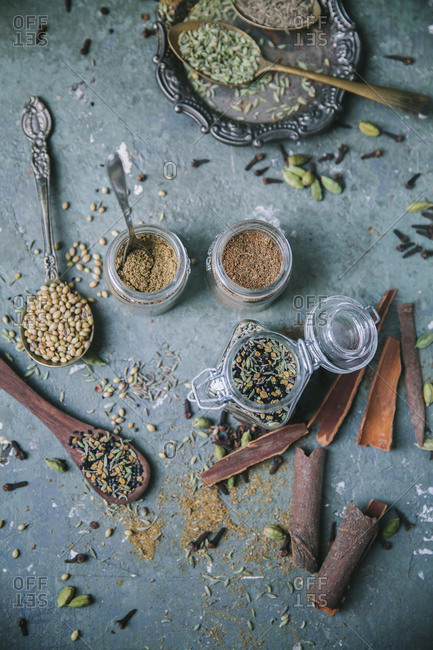 Ingredients to prepare Bengali spice mixes
