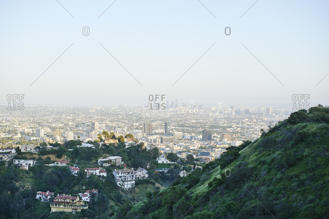 Houses in hills in Hollywood, USA
