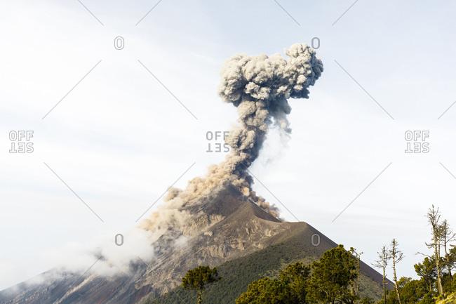 Volcan de Fuego erupting in Acatenango, Guatemala