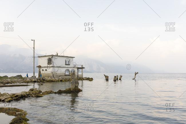 May 11, 2017: House next to Lake Atitilan in Guatemala