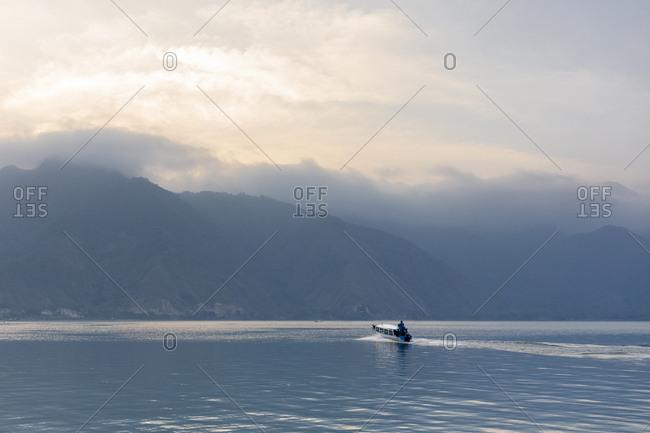 Fishing boat on Lake Atitilan in Guatemala