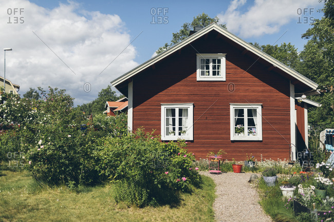 Wooden house in Smaland, Sweden