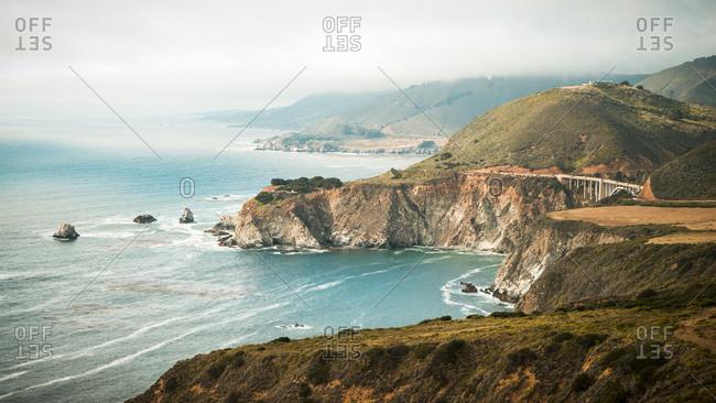 Cliffs by sea in California, USA