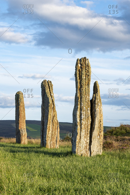 Great Britain- Scotland- Orkney- Mainland- Ring of Brodgar- neolithic stone circle