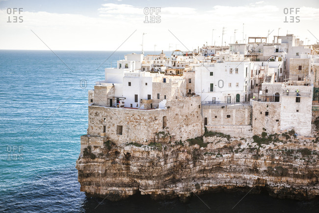 Italy- Puglia- Polognano a Mare- view at historic old town