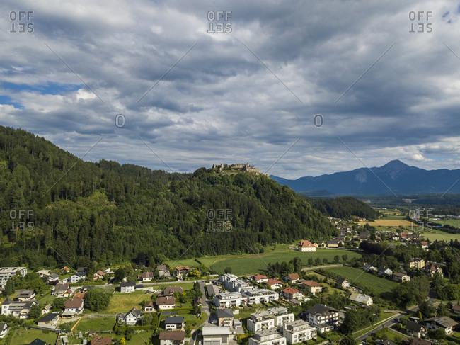 Austria- Carinthia- Ossiach Tauern- Villach- Landskorn Castle over St. Andrae