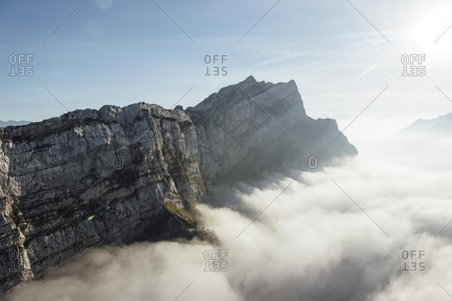 Switzerland- mountains and fog