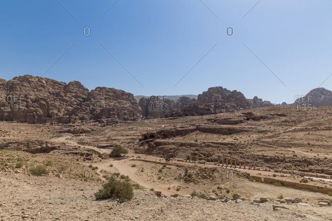 Jordania- Wadi Musa- Petra- colonnaded street