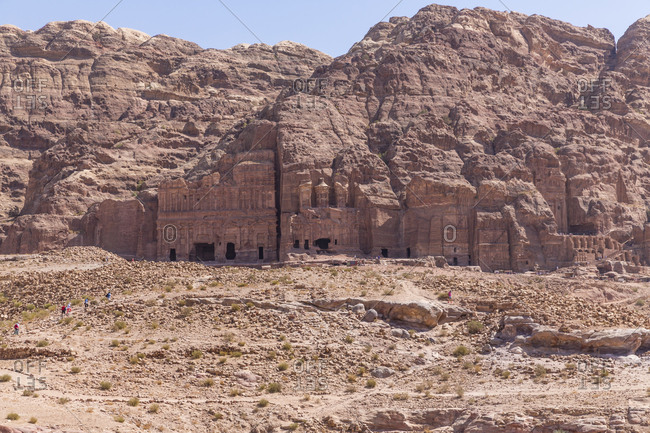 Jordania- Wadi Musa- Petra- royal tombs